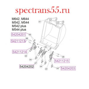 Палец 09244-02496 КМ 17 (775-HL-200PC)